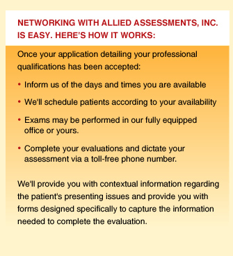 Networking with Allied Assessments, Inc. is easy. Here's How It Works